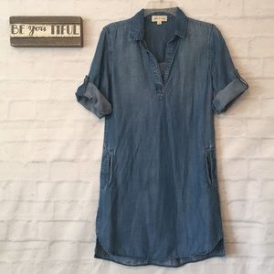 Cloth and Stone Adalie blue Chambray dress XS